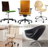 Negro de aluminio bajo de cinco estrellas de la oficina de las piezas de recambio de la silla resistente del diseñador