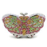 方法イブニング・バッグの純粋なHandmakeの蝶水晶Stone&RhinestoneはLeb740を袋に入れる