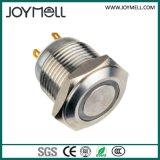 Interruptor de tecla branco do PONTO elétrico do anel