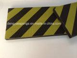 Protector amarillo negro de la espuma de la pista de la protección del coche de la película con el pegamento