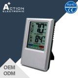 Higrómetro eletrônico eletrônico de termômetro digital colorido com nível de conforto