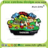 Souvenir promotionnel personnalisé Pérou (RC-PE) d'aimants de réfrigérateur de silicones de décoration de cadeaux à la maison