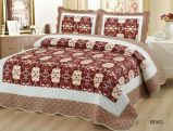 Schönes Patchwork gedruckte Bettwäsche-Blatt-Steppdecke der Baumwollsteppdecke-4PCS