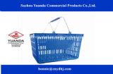 2016 de Nieuwe Manden van de Supermarkt van de Handvatten van het Metaal van de Stijl Dubbele Plastic voor Winkelcomplex