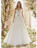 2017 A - ligne robes de mariage nuptiales de broche de lacet Ctm836