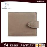 Carteira de cartão de crédito de cartão de crédito de couro natural macio natural