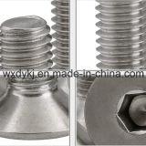Fábrica principal escareada do parafuso de tampão do soquete do hexágono do aço inoxidável 304 de ISO 10642 de China