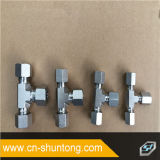 Aço inoxidável do adaptador hidráulico masculino métrico do cotovelo