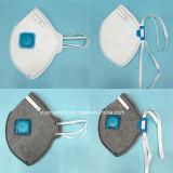 El respirador disponible Ffp2 con el plano vertical plegable con la válvula