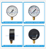 Medidor de pressão de aço preto - Medidor de pressão inferior - Medidor de pressão seca