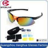 Vidros protetores UV polarizados de ciclagem ao ar livre da forma nova elevada da definição com as 5 lentes de Interchangeabl