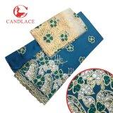 Tessuto di seta indiano in rilievo del George con il merletto di Tulle per la cerimonia nuziale