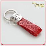 Runde Form Metal&Leather SchlüsselFob mit kundenspezifischem Firmenzeichen