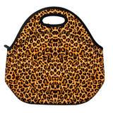 Recipiente térmico da caixa do Tote do saco do almoço do trabalho da escola do refrigerador ao ar livre do curso do teste padrão do leopardo