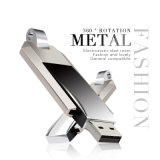 360 Grad drehen Metall-USB-Blitz-Laufwerk-Speicher-Stock