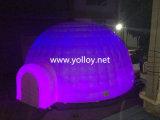 Раздувной привлекательный шатер купола СИД с светом
