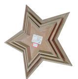 Stella di legno della nuova di stile dell'artigianato decorazione dell'albero di Natale