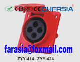 Connecteur industriel 16A IP44 Ce Certificated 4p pour usage dangereux ZYY-414