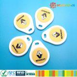 Impressão contra injeções ABS MIFARE Classic 1K RFID Keyfobs para controle de acesso