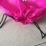 Sac à dos à cordon de style simple polyester pour promotion de cadeaux