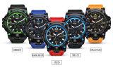 Horloges van het Kwarts van het Horloge van de Vertoning van de Sport van Mens de Dubbele Elektronische