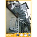 Escalier en acier extérieur galvanisé en vente chaude