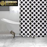 Cortina de chuveiro feita sob encomenda contemporânea da cortina de chuveiro do PONTO de polca