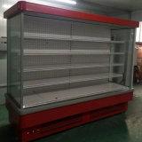 Obstruir dentro o refrigerador aberto de Multideck do compressor para o indicador do supermercado