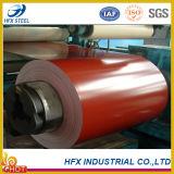 La materia prima de la hoja del material para techos del color cubrió la bobina de aluminio