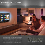 L'androïde de cadre de TV 6.0 Caidao Cws570 avec le cadre intelligent de ROM du RAM 8GB du faisceau 2GB de quarte d'Amlogic S905X supporte se traduire 4k HD H. 265 et Vp9