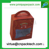 Rectángulo de regalo resistente de lujo modificado para requisitos particulares venta caliente de la cartulina para el té o el alimento