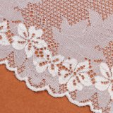 Textilrosafarbene Blumen-Stickerei-Spitze