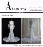 Vestido de casamento nupcial real da alta qualidade elegante