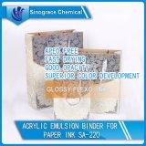 Carpeta de acrílico a base de agua de la emulsión para la tinta de papel