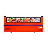 Compra transparente do refrigerador da parte dianteira do Showcase da porta deslizante com melhor vista
