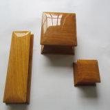 Rectángulo de joyería de madera de la alta cintura brillante