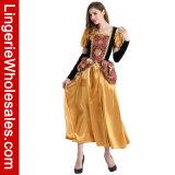 ブラウンの女性のための大人のデラックスな王女デザインの凝った服の衣裳