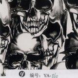 Yingcai 1mの幅の最も熱い頭骨デザイン水転送の印刷のフィルムのHydrographicsのフィルム