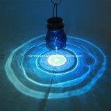 Luces solares de cristal del tarro de la decoración LED