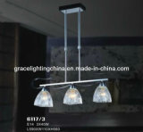 Candelabro de vidro da decoração da lâmpada do pendente do fabricante profissional da iluminação (GD-6118-6)