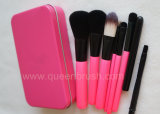 7PCS Pink Synthetic Hair Metal Case Makeup Brush Set