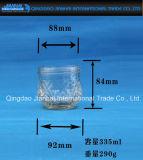 Tarro del atasco de la cristalería del modelo de Embosseed para el almacenaje del alimento (JH-2307)