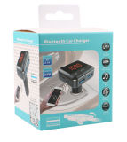 Áudio esperto do carro de Bluetooth com o carregador em dois sentidos do carro do USB do plugue com o cartão do TF da sustentação do controle do APP do telefone móvel e o transmissor do USB Disk/FM (BC12B)