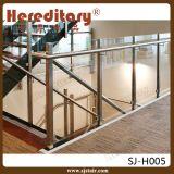 Balaustrada de vidro do aço inoxidável com o corrimão superior para a escadaria (SJ-S097)
