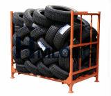 Entreposage des pneus pliable industriel en métal empilant la crémaillère