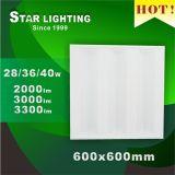 새로운 도착 36W 600X600 LED 석쇠 램프