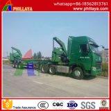 3 Aanhangwagen van de Container van de Lader van assen de Semi Zij