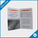 Складная бирка Hang бумажной карточки с печатание Cmyk