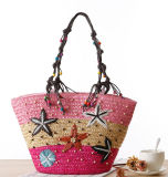 Vente en gros New Design Natural Straw Women Lady Traveling Beach Bags