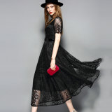 La venta caliente negra ceñió la alineada del cordón para la ropa de las mujeres